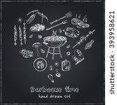 vector hand drawn set with... | Shutterstock .eps vector #393958621