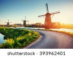 the road leading to the dutch... | Shutterstock . vector #393962401