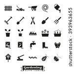 gardening vector icons... | Shutterstock .eps vector #393963655