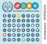 exchange finance business icon... | Shutterstock .eps vector #393965101