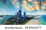 south pointe park and coast  ... | Shutterstock . vector #393965377