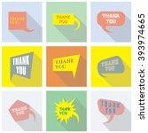 thank you vector  appreciation... | Shutterstock .eps vector #393974665