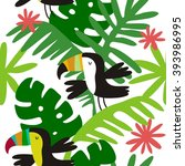 Seamless Pattern With Toucan