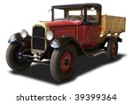 A Red Antique Truck Isolated On ...