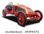 a red antique car isolated on... | Shutterstock . vector #39399373