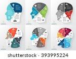 Stock vector vector brain puzzle infographic template human head diagram graph presentation face chart 393995224