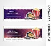 cinema movie poster template... | Shutterstock .eps vector #393996004