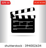 movie icon vector  | Shutterstock .eps vector #394002634