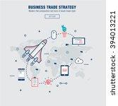 modern block line flat business ... | Shutterstock .eps vector #394013221