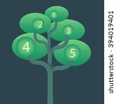 vector turquoise tree info... | Shutterstock .eps vector #394019401