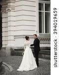 luxury married wedding couple ... | Shutterstock . vector #394019659
