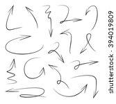 vector hand drawn arrows set... | Shutterstock .eps vector #394019809