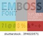 symbols with emboss effect... | Shutterstock .eps vector #394023571