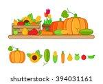 vector illustration of harvest... | Shutterstock .eps vector #394031161