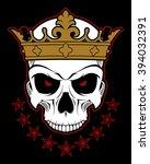 dead king   Shutterstock .eps vector #394032391
