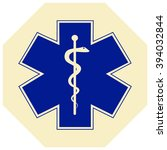 medical symbol of the emergency.... | Shutterstock .eps vector #394032844
