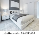 bedroom in contemporary style... | Shutterstock . vector #394035634