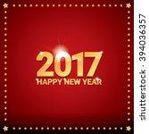 happy new year 2017. happy... | Shutterstock .eps vector #394036357
