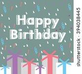 vector illustration of a happy... | Shutterstock .eps vector #394038445