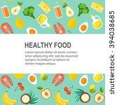 healthy food vector template.... | Shutterstock .eps vector #394038685