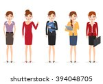 set of woman character. people...   Shutterstock .eps vector #394048705