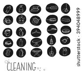 icons for cleaning services ... | Shutterstock .eps vector #394048999