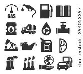 gasoline  gas  oil icon set | Shutterstock .eps vector #394053397