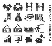 deal  trade  purchase icon set | Shutterstock .eps vector #394053565