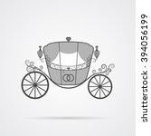 vector gray wedding carriage...