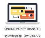 online money transfer | Shutterstock .eps vector #394058779