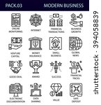 business line icons.business... | Shutterstock .eps vector #394058839