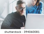 photo crisis manager working... | Shutterstock . vector #394060081
