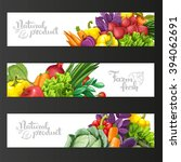 three horizontal banners with... | Shutterstock .eps vector #394062691
