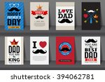 set of father's day brochures... | Shutterstock .eps vector #394062781