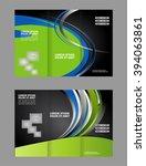 vector modern tri fold brochure ... | Shutterstock .eps vector #394063861
