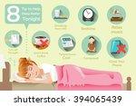 how to sleep better. the... | Shutterstock .eps vector #394065439