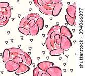 watercolor seamless pattern... | Shutterstock .eps vector #394066897