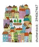 hand drawn whimsical cartoon...   Shutterstock .eps vector #394067467