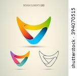 vector abstract logo corporate...   Shutterstock .eps vector #394070515