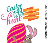 easter egg hunt isolated on... | Shutterstock .eps vector #394073404