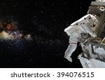 astronaut on space mission.... | Shutterstock . vector #394076515