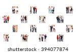 corporate teamwork people... | Shutterstock . vector #394077874