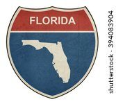 florida american interstate... | Shutterstock . vector #394083904