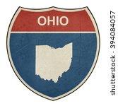grunge ohio american interstate ... | Shutterstock . vector #394084057