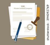 ltd private limited company... | Shutterstock .eps vector #394092769
