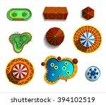 theme amusement park sings set. ... | Shutterstock .eps vector #394102519