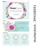 floral website template  banner ...