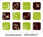 creative floral design icons ... | Shutterstock .eps vector #39410917