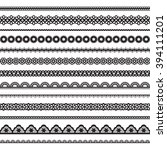 collection of seamless lace | Shutterstock . vector #394111201