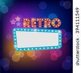 neon shining bigboard in retro... | Shutterstock . vector #394111549